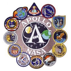 space mission patches | nasa apollo mission patch collage nasa apollo mission…