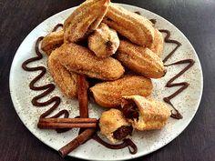 Μπαστουνάκια απο ζύμη σου γεμιστά με Nucrema, ζάχαρη και κανέλα   ION Sweets