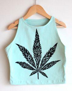 A hand-printed crop top. Get it? Crop?  Sleeveless Menthe Crop Top, $16; etsy.com