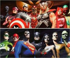 DC and Marvel Alex Ross
