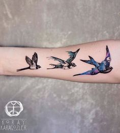 Koray Karagozler bird tattoo