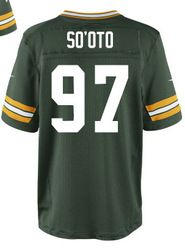 """$78.00--Vic So'oto Jersey - Elite Green Home Nike Stitched Green Bay Packers #97 Jersey,Free Shipping! Buy it now:click on the picture, than click on """"visit aliexpress.com"""" In the new page."""
