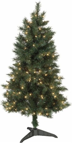 683fe80ddf Holiday Home® Pre-Lit Artificial Fir Tree - Clear
