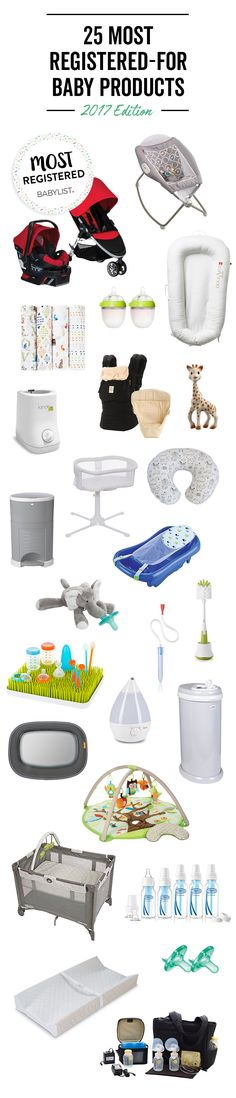 Here Are the 25 Things Parents Registered for Most This Year Cut through the noise: These are thousands of parents' must-haves, all in one handy list. Unique Baby Gifts, Personalized Baby Gifts, New Baby Gifts, Baby Registry Checklist, Baby Registry Items, Baby List, Baby Must Haves, Baby Store, Baby Hacks