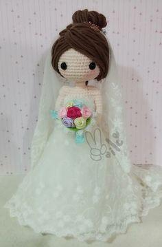 Amigurumi bride doll. (Inspiration).