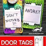 DIY door tags