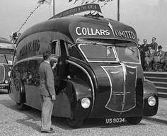 Vintage Cars These were built by Holland Coachcraft of Govan, Scotland. Antique Trucks, Vintage Trucks, Antique Cars, Vintage Campers, Motorcycle Camping, Camping Gear, Classic Trucks, Classic Cars, Art Deco Car