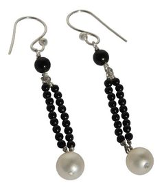 Black Onyx and White Cultured Freshwater Pearl Dangle Earrings in Sterling Silver Blue Breeze Jewelry http://www.amazon.com/dp/B008DMV9E8/ref=cm_sw_r_pi_dp_03cVtb0456S6WE8M