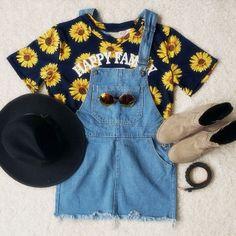 Blue Strap Ripped Pockets Denim Dress