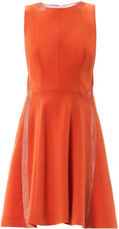 Rag & bone offer a playful addition to your wardrobe with this Renard mesh sleeveless dress. A warm burnt orange hue and quirky mesh detailing bring this girlish piece to life. Wear yours with statement flats for fun-loving city jaunts.