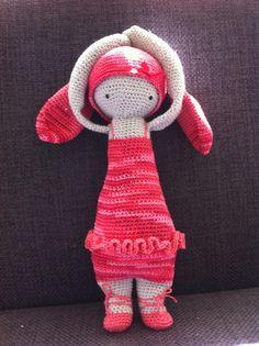 RITA the rabbit made by Diana Z. / crochet pattern by lalylala