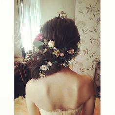 #ヘアアレンジ #ヘアスタイル #ヘアセット #ヘア#ルーズアレンジ #トリートドレッシング #ヘアメイク#ナチュラル#ウェディング#wedding #hairarrange #hair#updo#bridal#花嫁#結婚式