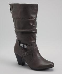 Gray Graceful Boot