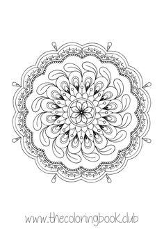 Premium Mandala Coloring Page