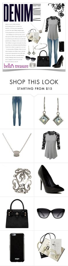 """""""Blue Jean Baby"""" by lalalaballa22 ❤ liked on Polyvore featuring Alima, Yves Saint Laurent, LE3NO, Versace 19•69, Elizabeth and James, Givenchy and Chanel"""