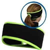 TrailHeads Goodbye Girl Ponytail Headband - black / hi-vis:Amazon:Sports & Outdoors