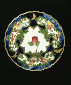 LavishShoestring.com | Fruit dish        Place of origin:        London, England (made)      Date:        1759-1769 (made)      Artist/Maker:        Chelsea Porcelain factory (maker)      Materials and Techniques:        Soft-paste porcelain, painted in enamels and gilt