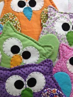 decorative owl fabric pot holder wall decor wall by HobbyJoyDesign, $10.00