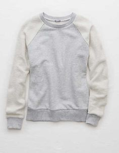 Aerie Inside-Out Sweatshirt, Medium Heather | Aerie for American Eagle