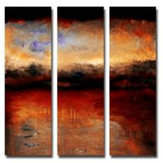 @Overstock - Create a bold statement in any room with this large square canvas set by Michelle Calkins. Each 32 x 10 panel contains a different part of a beautiful landscape painting that features red skies at night, which will complement many decorating styles.http://www.overstock.com/Home-Garden/Michelle-Calkins-Red-Skies-at-Night-Canvas-Art-Set/6180318/product.html?CID=214117 $100.99