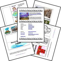 Japan Country Study & Lapbook Teaching Geography, World Geography, Teaching Kids, Japan For Kids, Japan Country, Kindergarten Social Studies, Home Learning, Thinking Day, Education English, History Activities, Reading Comprehension, Learning, Science