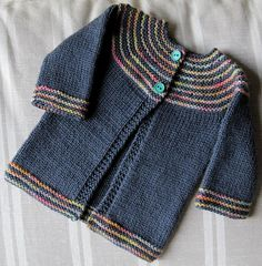 Ravelry: autumn sunset, # Knitting , lace processing is essentially t. Kids Knitting Patterns, Baby Sweater Patterns, Baby Cardigan Knitting Pattern, Knit Baby Sweaters, Knitting For Kids, Baby Patterns, Ravelry, Cardigan Bebe, Pull Bebe