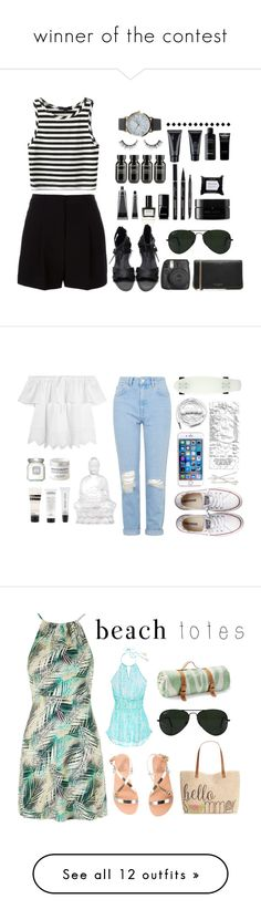 """""""winner of the contest"""" by camillathebest ❤ liked on Polyvore featuring DKNY, Fujifilm, Ray-Ban, Marc Jacobs, NLY Accessories, Chanel, Bare Escentuals, Balmain, arbÅ« and Grown Alchemist"""