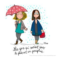CDH: Singing in the rain French Illustration, Kawaii Illustration, Walking In The Rain, Singing In The Rain, French Cartoons, B Image, Chibi, Cartoon Quotes, Red Umbrella