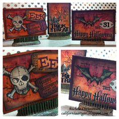 Richele Christensen: Quick Halloween ATC Cards http://californiaartgirl.blogspot.com/2012/10/quick-halloween-atc-cards.html#