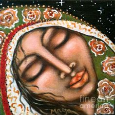 Our Lady Of Peace Painting by Maya Telford - Our Lady Of Peace Fine Art Prints and Posters for Sale fineartamerica.com #mayatelford #ourladyofpeace #fineart