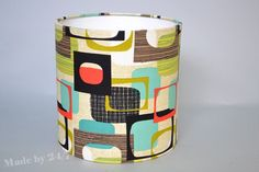 Handmade drum lamp shade retro style  Michael Miller by Madeby247
