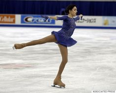 Evgenia Medvedeva, of Russia, performs in the ladies free skating at the Skate America figure skating competition Saturday, Oct. 24, 2015, in Milwaukee. Medvedeva won the gold medal. (AP Photo/Jeffrey Phelps)