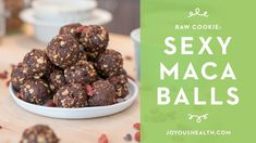 These raw and plant-based cookie balls are full of superfoods including maca, goji berries and raw cacao. You'll love how easy they are to make because you don't even have to turn on your oven! Tofu Nutrition, Green Grapes Nutrition, Kids Nutrition, Raw Cookie Recipe, Cookie Recipes, Vegan Desserts, Just Desserts, Joyous Health, Herbal Weight Loss