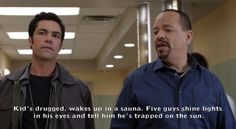 Ice-T has some startling information for you in these fake SVU screencaps ·…