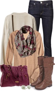 I have a bag this exact color so this would be an easy outfit to put together - looks casual chic Fall Winter Outfits, Autumn Winter Fashion, Casual Outfits, Cute Outfits, Pretty Outfits, Look Fashion, Womens Fashion, Daily Fashion, Looks Street Style