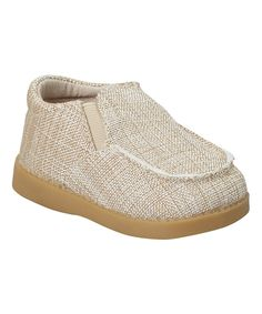 Look at this Tan Canvas Squeaker Shoe on #zulily today!