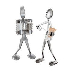 Fork Spoon Salt Pepper Shakers and Toothpick Holder   Acorn Online