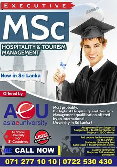 UGC Approved Executive MSc in Hospitality & Tourism Management  UGC Approved Executive MSc in Hospitality & Tourism Management