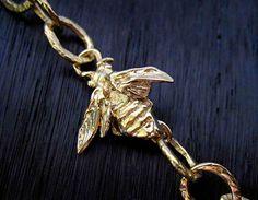 Artisan Handmade Bee Bracelet Link Necklace by VDIJewelryFindings