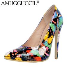 2017 New Arrival Plus Big Size Multi-color Fashion Sexy High Heel Spring  Autumn Girl Female Lady Shoes Women Pumps 20bb0c2f1763