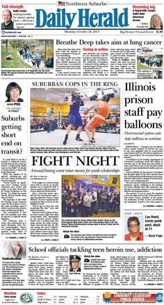 Daily Herald front page, Oct. 28, 2013; http://eedition.dailyherald.com/;
