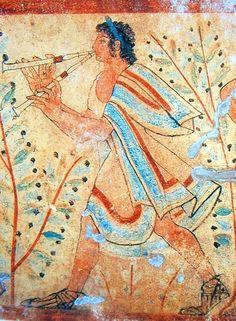 """CIVILIZACIÓN ETRUSCA  Tanto las fuentes literarias antiguas como las arqueológicas demuestran que la civilización etrusca sintió un enorme aprecio por la música, algo que puede comprobarse con sólo contemplar el riquísimo elenco iconográfico que procede, sobre todo, de sus tumbas. Como llegó a decir el prestigioso etruscólogo J. Heurgon,  """"lo que debía ser más difícil de descubrir en una ciudad etrusca, era el silencio"""".     Se estima que el pueblo etrusco comienza a recibir la influencia…"""