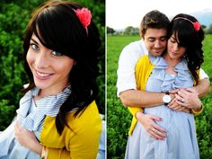 Maternity Shoot: Simple and natural with a pop of color.