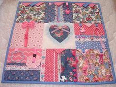 DOLL TEA Fidget Activity Tactile Sensory Quilt Wheelchair Blanket for Alzheimers stroke autistic dementia anxiety brain trauma pT Crafts For Seniors, Senior Crafts, I Spy Quilt, Sensory Blanket, Fidget Blankets, Fidget Quilt, Shabby Chic Pink, Love Sewing, Scrappy Quilts