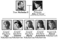 De stamboom van de Romanov familie.