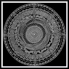 black paper zentangles | Doodled Zentangle Circle