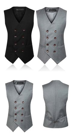 Business Formal Double Breasted Suit Vest / British Style Waistcoats for Men Source by clothing styles Blazer Outfits Men, Stylish Mens Outfits, Indian Men Fashion, Mens Fashion Suits, Men's Vest Fashion, Gilet Costume, Waistcoat Men, Formal Men Outfit, Mens Kurta Designs