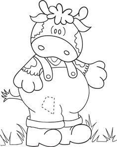 Dibujos Y Plantillas Para Imprimir Dibujos De Vaquitas Pintura Modelo Dibujos Animales Para Pintar