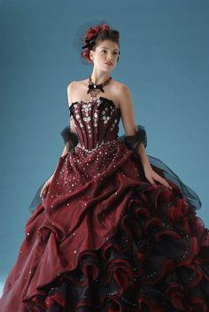 Wedding Dress Fantasy - Burgundy Wedding Dress, $779.00 (http://www.weddingdressfantasy.com/burgundy-wedding-dress/)