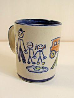 Louisville Stoneware I LUV U DAD! Coffee Tea Mug Family Fishing Camping Father #LouisvilleStoneware